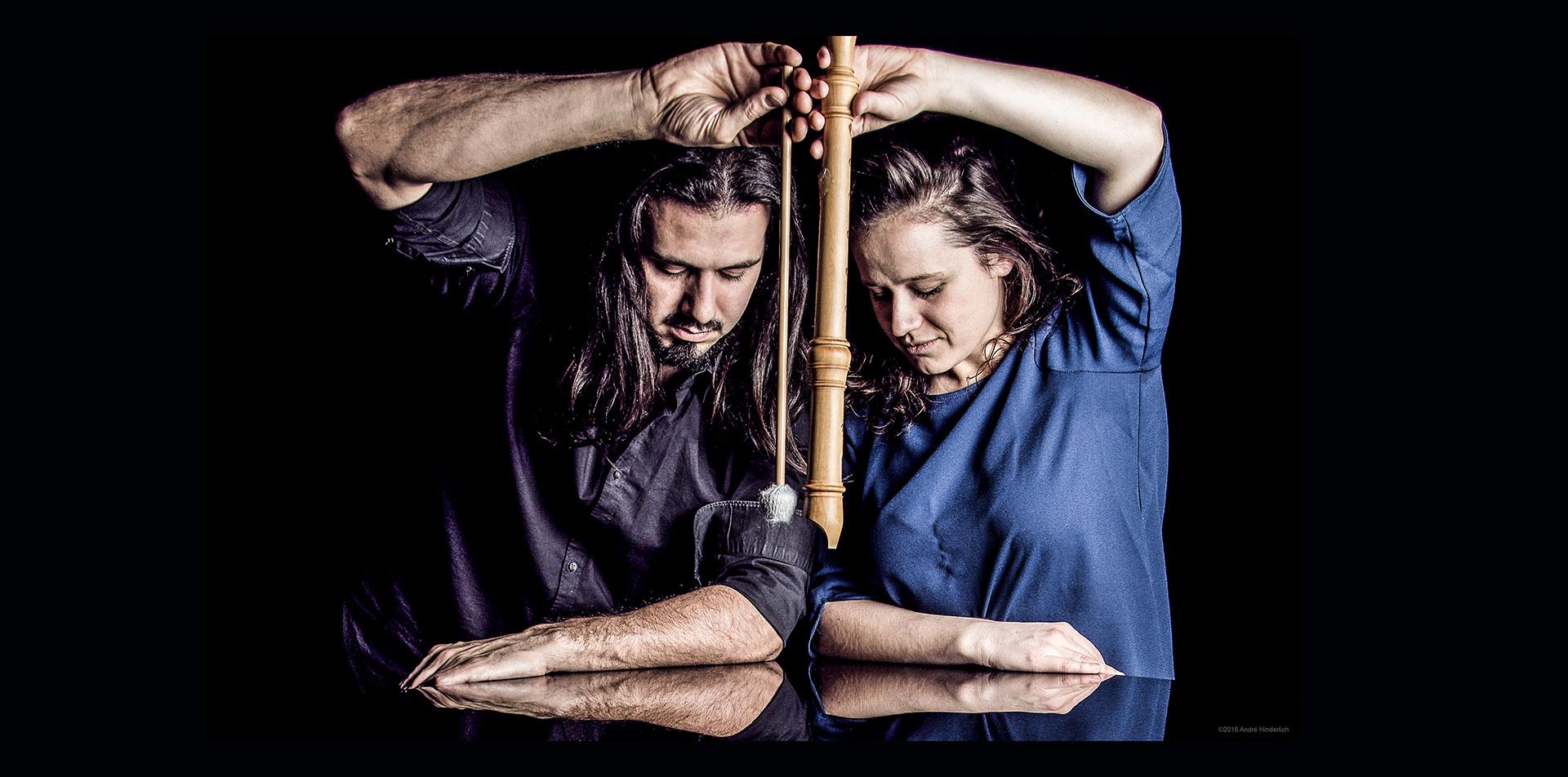 Musiker duo - Flöte - Schlaginstrumente - Duo Lamprecht